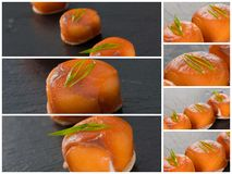 Canapes with smoked salmon and cream cheese Stock Images