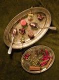 Canapes y tartlets Imagen de archivo libre de regalías