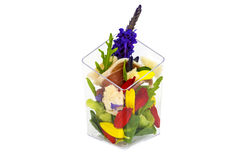 Canaps with edible flowers Stock Photo