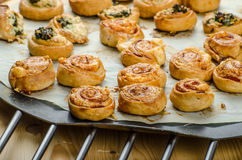 Canap�s puff pastry Stock Photo