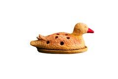 Canard brun de statue Photographie stock