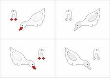 Canard de jouet fait de papier Image stock