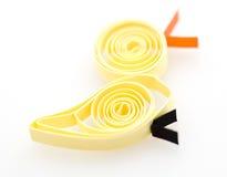 Canard de papier abstrait mignon Photo libre de droits