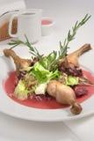 Canard de rôti avec de la sauce Images stock