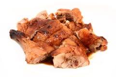 Canard de rôti de BBQ avec l'angle de sauce_diff Photos libres de droits