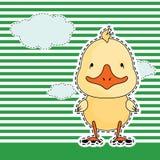 Canard drôle, carte de voeux, vecteur Images stock