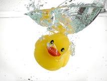 Canard en caoutchouc de coulage Images libres de droits