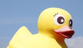 Canard en plastique jaune Images libres de droits