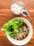 Canard et riz de nouille Image libre de droits