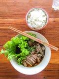 Canard et riz de nouille Photographie stock