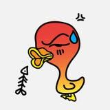 Canard fâché photo libre de droits