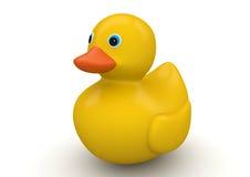 Canard jaune classique de salle de bains Image libre de droits