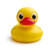 Canard jaune de bain Photographie stock