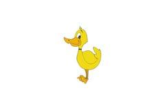 Canard jaune de dessin animé Images libres de droits