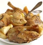 Canard rôti images stock
