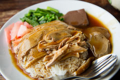 Canard rôti avec du riz Image libre de droits