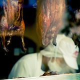 Canard rôti par BBQ chinois Photographie stock libre de droits