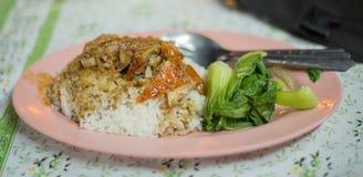 Canard rôti par riz Images stock