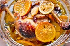 Canards dans les oranges Images libres de droits