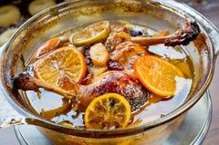 Canards dans les oranges Image libre de droits