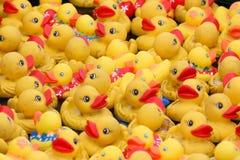 Canards en caoutchouc jaunes Photo libre de droits