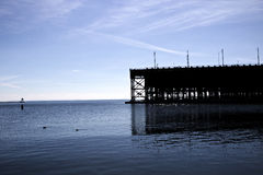 Canards et le dock de minerai images libres de droits