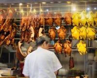 Canards rôtis en Hong Kong Photos libres de droits
