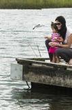 Canards sur un lac Image stock