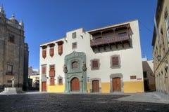 canaria哥伦布de gran房子Las Palmas西班牙 库存照片