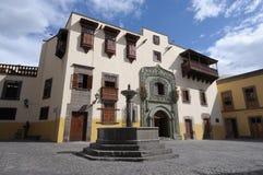 canaria columbus de gran hus Las Palmas Fotografering för Bildbyråer
