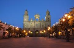 canaria domkyrka de gran Las Palmas Fotografering för Bildbyråer