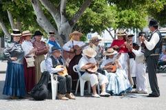 Canarian传统音乐,特内里费岛,西班牙 库存图片
