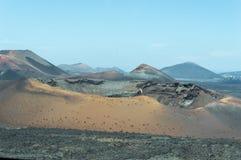 2011 canarian海岛6月lanzarote国家公园timanfaya 库存照片