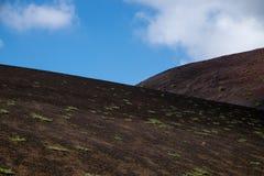 2011 canarian острова lanzarote -го timanfaya национального парка в июне Стоковые Фотографии RF