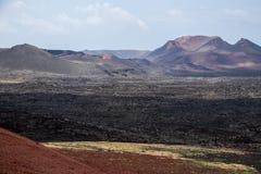 2011 canarian острова lanzarote -го timanfaya национального парка в июне Стоковое Изображение