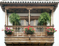 Canarian balcony Stock Photo