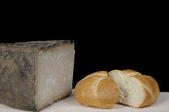 Canarian cheese. A piece of hard goat cheese from the Canary Islands Stock Images