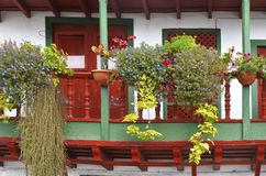 Canarian house front Royalty Free Stock Photo