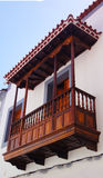 Canarian picturesque balcony, Spain Stock Photo