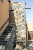 Canarian stairs. In a colonial house of La Laguna in Tenerife. It is a vertical image royalty free stock images