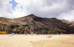 Canarian strand, Tenerife Royaltyfri Bild