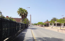 Canarian street lighthouse, Spain Royalty Free Stock Photography