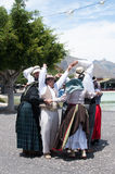 Canarian traditional dance, Tenerife, Spain Royalty Free Stock Images