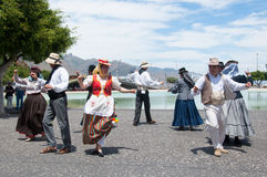 Canarian traditional dance, Tenerife, Spain Royalty Free Stock Photography