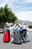 Canarian traditional dance, Tenerife, Spain Stock Photography