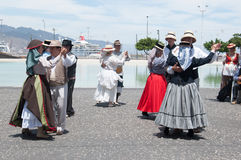 Canarian traditional dance, Tenerife, Spain Stock Photos