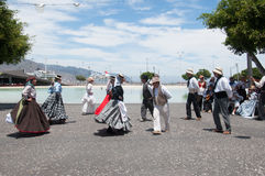 Canarian traditional dance, Tenerife, Spain Royalty Free Stock Photos