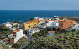 Canarian village and ocena view Royalty Free Stock Photo