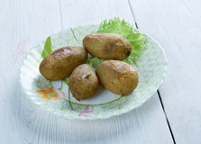 Canarian wrinkly potatoes Royalty Free Stock Images