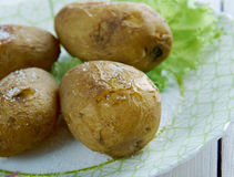 Canarian wrinkly potatoes Stock Photo